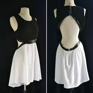 Black/white Cutout Dress